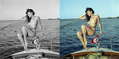 Bettie Page Photograph - Bettie Page Colorization by Franchi Torres