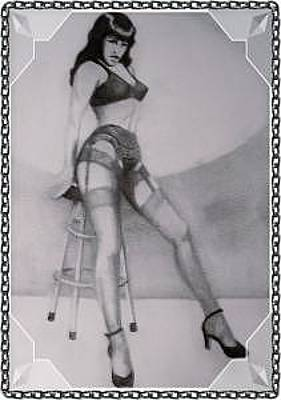 Gioffre Harrington Drawing - Bettie Page by Janet Gioffre Harrington