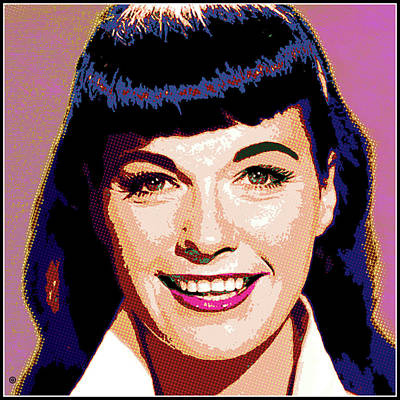 Digital Art - Bettie Page Portrait by Gary Grayson