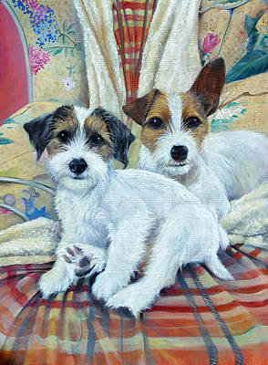 Wall Art - Painting - Betty And Milly by Penny Golledge