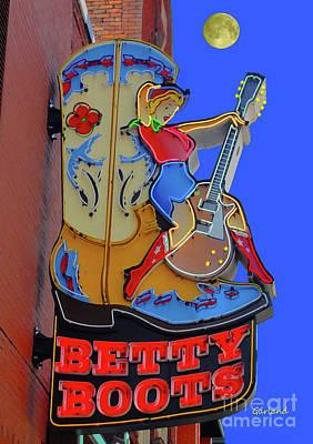 Betty Boots 3 Art Print