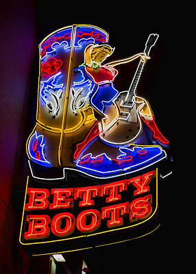Nashville Sign Photograph - Betty Boots by Stephen Stookey