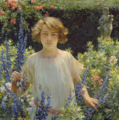 Painting - Betty Gallowhur  by Charles Courtney Curran
