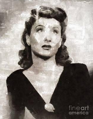 Betty Garrett, Actress Art Print by Mary Bassett
