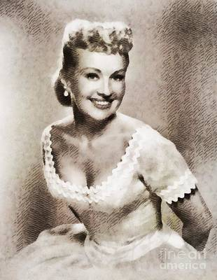 Grable Painting - Betty Grable, Vintage Hollywood Legend by John Springfield