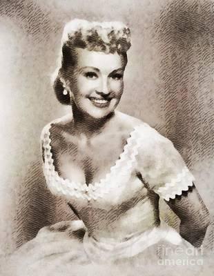 Betty Grable, Vintage Hollywood Legend Art Print