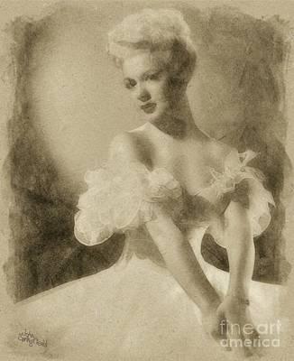 Betty Hutton, Vintage Hollywood Actress Art Print