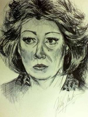 Maltese Drawing - Betty Loren Maltese  by Billy Jackson