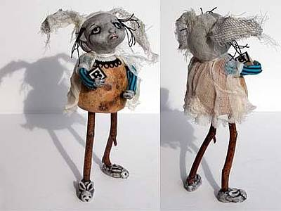 Mixed Media - Betty Of The Weird Family by Linda Apple