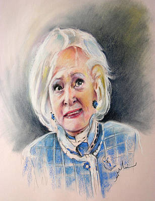 Painting - Betty White In Boston Legal by Miki De Goodaboom