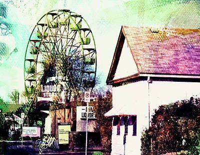 Digital Art - Betty's  Ferris Wheel by Susan Stone