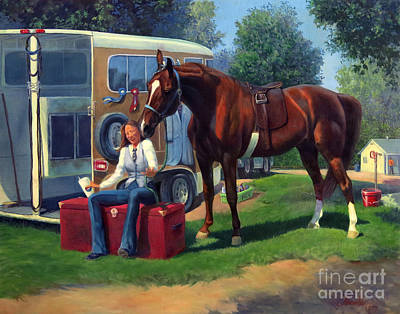 American Saddlebred Painting - Pepsi Please by Jeanne Newton Schoborg