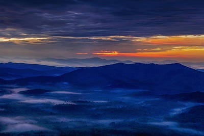 Blue Ridge Mountain Photograph - Between Clouds by Andrew Soundarajan
