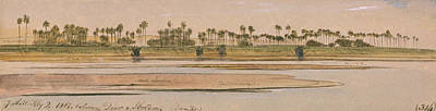 Drawing - Between Derr And Ibreem by Edward Lear