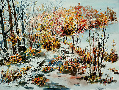 Painting - Between Frozen Waters by Alfred Motzer