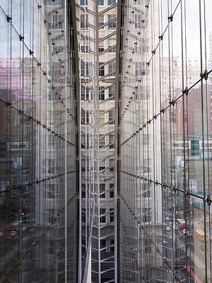 Architecture Photograph - Between Glass Walls by Rona Black
