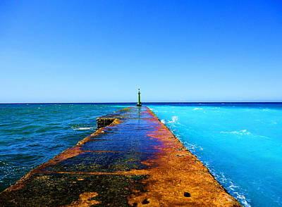 Between Ocean And The Sea Art Print by Yury Bashkin