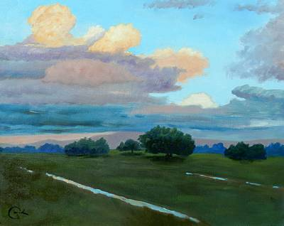 Moody Painting - Between Rains by Gary Coleman