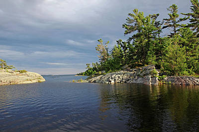 Photograph - Between Rocky Outcrops To Georgian Bay by Debbie Oppermann