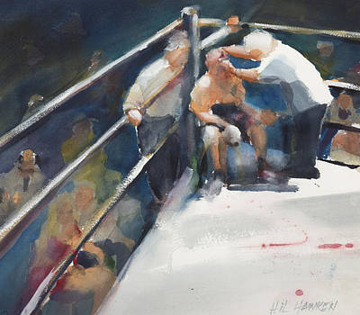Between Rounds Art Print by Hil Hawken