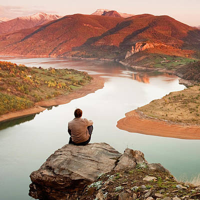 Meandering Photograph - Between Seasons by Evgeni Dinev