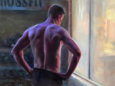 Torso Painting - Between Sets by Anna Rose Bain
