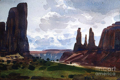 Painting - Between The Buttes by Donald Maier