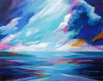 Painting - Between The Clouds by Rosie Sherman