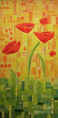 Painting - Between The Crosses by Donna Howard