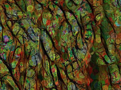 Digital Art - Between The Lines by Leslie Montgomery
