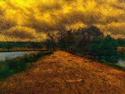 Digital Art - Between The Ponds by Leigh Kemp