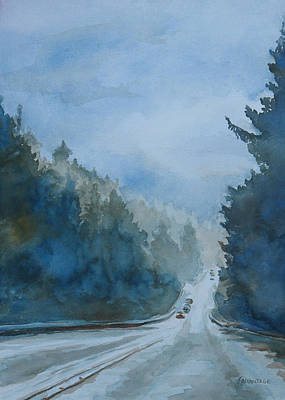 Between The Showers On Hwy 101 Art Print by Jenny Armitage
