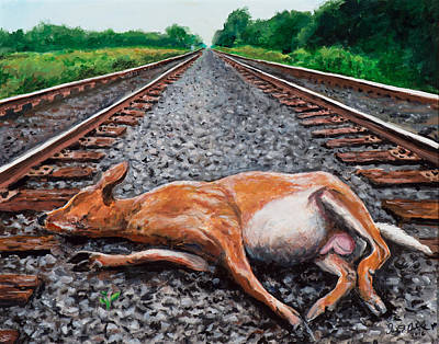 Painting - Between The Tracks by David Burke