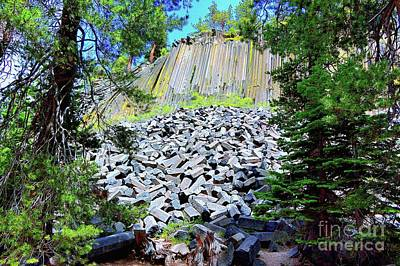 Photograph - Between The Trees Devils Postpile by Joe Lach