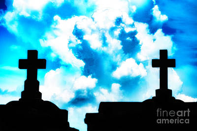 Photograph - Between The Two Crosses by Frances Ann Hattier