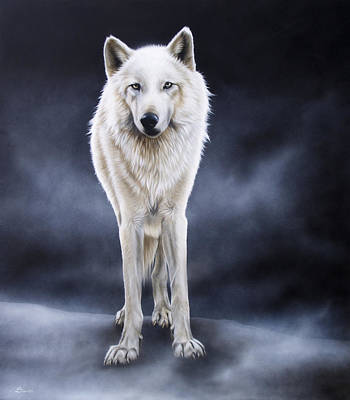 'between The White And The Black' Print by Sandi Baker