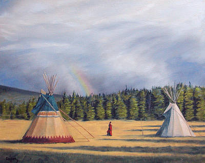 Between Two Lodges Art Print