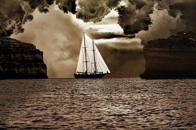 Photograph - Between Two Rocks by Aleksander Rotner