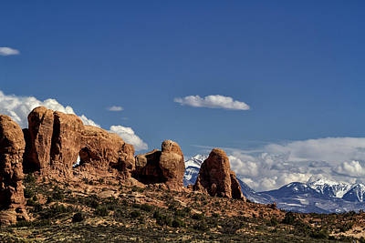 Photograph - Between Two Worlds - Arches National Park by Belinda Greb