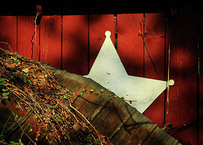 Metal Roof Photograph - Between Two Worlds by Rebecca Sherman