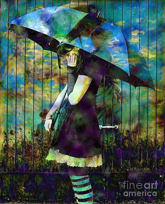 Between Umbrellas Art Print by Daniela Constantinescu