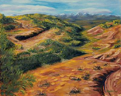 Cripple Painting - Between Victor And Cripple Creek by Ken Enright