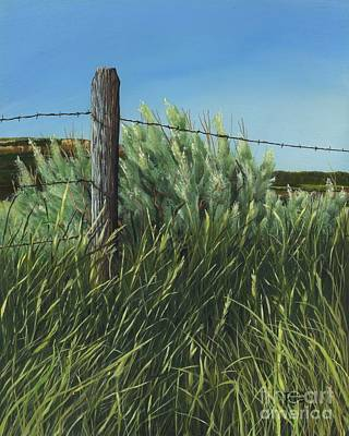 Painting - Between You, Me And The Fence Post by Rosellen Westerhoff