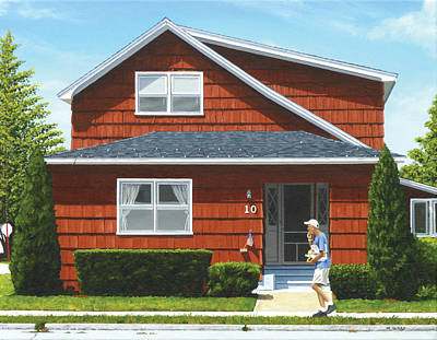 Hyperrealism Painting - Beulah House by Michael Ward