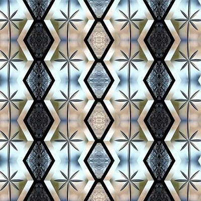 Digital Art - Beveled Glass Design by Ellen Barron O'Reilly