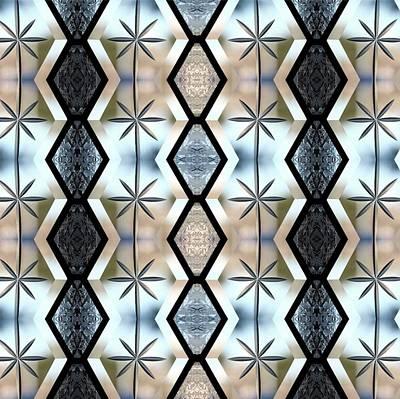 Digital Art - Beveled Glass Design by Ellen Barron O'Reilly