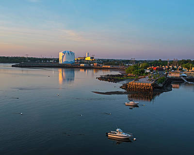 Photograph - Beverly Harbor Beverly Ma Salem Water Tower Sunrise Salem Ma by Toby McGuire
