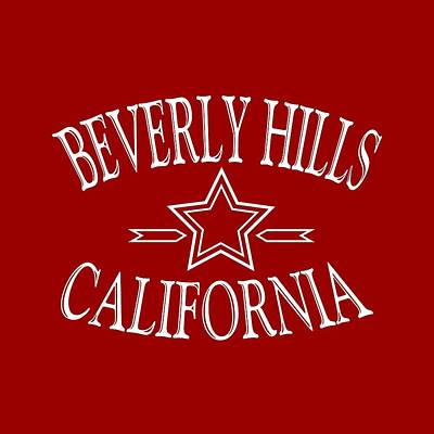Beverly Hills Mixed Media - Beverly Hills California Design by Art America Gallery Peter Potter