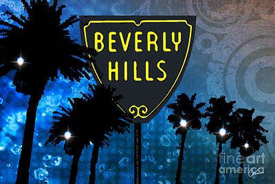 Beverly Hills Mixed Media - Beverly Hills by Corina Bakke