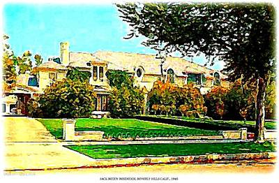 Beverly Hills Mixed Media - Beverly Hills Home Of Jack Benny, 1945 by Dwight Goss